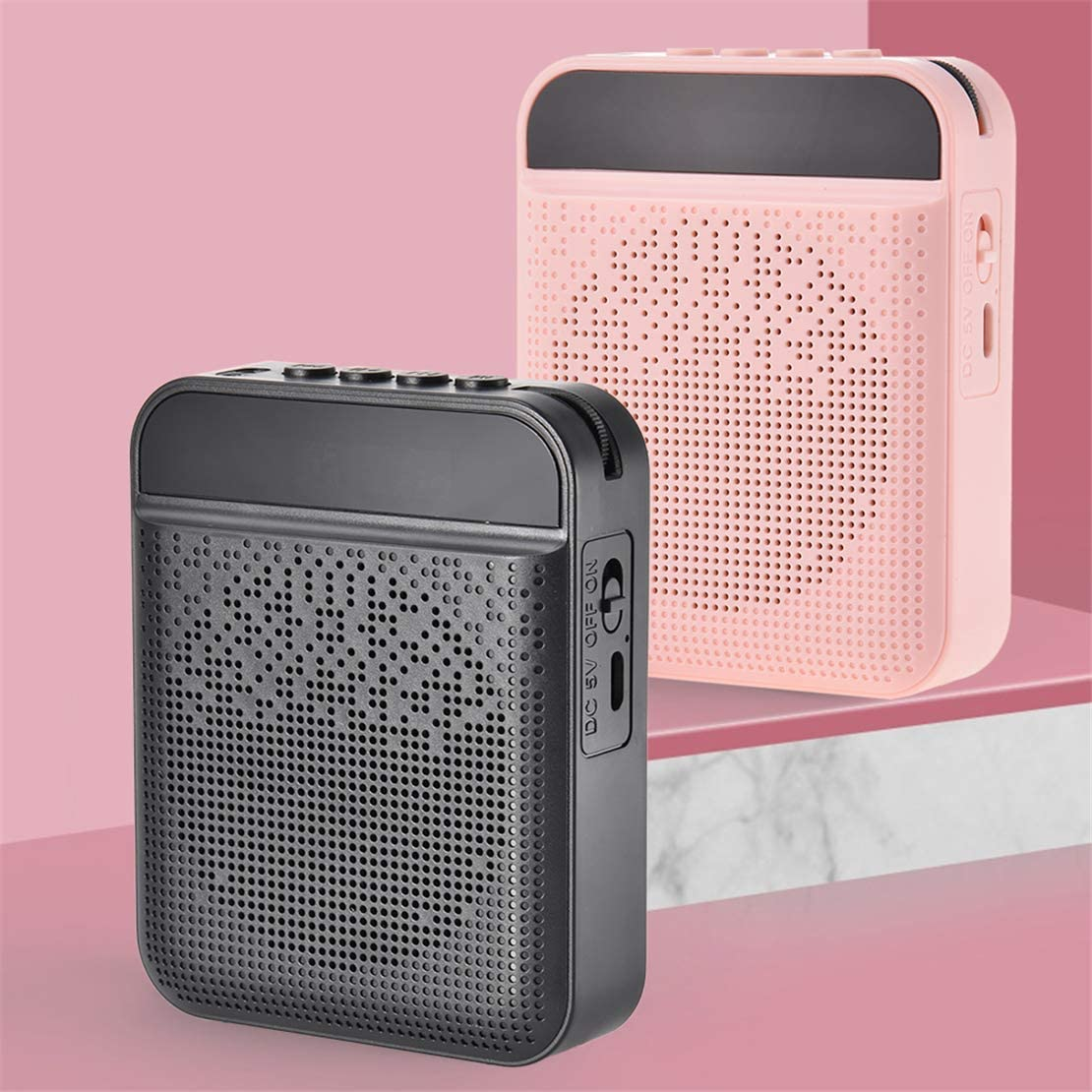 Altavoz//Bluetooth//Radio FM//Reproductor de MP3 para profesores Gu/ías tur/ísticos Entrenadores Amplificador de voz port/átil con micr/ófono para auriculares altavoz de micr/ófono personal recargable