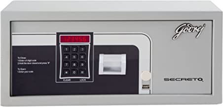 Godrej Security Solutions Secreto Electronic Safe with Free Demo (Silver, Powder Coated Finish)