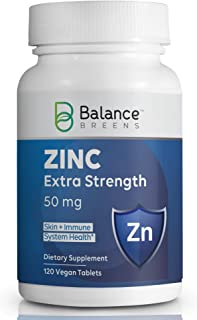 Sponsored Ad - Balance Breens - Daily Zinc with Zinc Gluconate 50mg - Immune Support Booster - Supports Healthy Skin and H...
