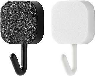 SoeKewo フック 粘着フック 壁 傷つけない 壁掛け 耐荷重2.2kg 防水 10個 (5 ブラック 5 ホワイト)