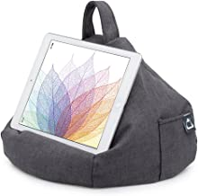 iPad Pillow & Tablet Stand - Securely Holds Any Size Tablet, eReader or Book Upto 12.9 inches, Hands Free Comfort at Any Angle on Any Surface - Slate Grey, by iBeani