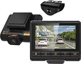 Dual Dash Cam, AQP Full HD 1080P Car Camera Front and Rear for Cars, Dashboard Camera Recorder with GPS&WiFi, Sony Sensor, 170°/ 150°Wide Angle, 3 inch IPS Screen, G-Sensor, WDR, Cycle Recording