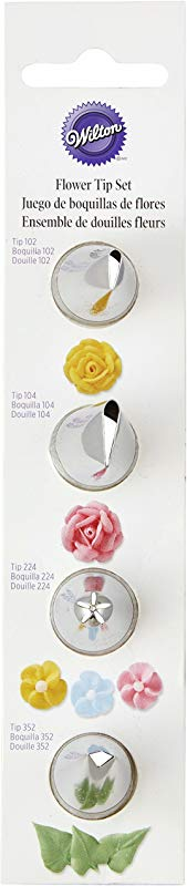 Wilton 418 1702 Flower And Leaf Icing Tip Set
