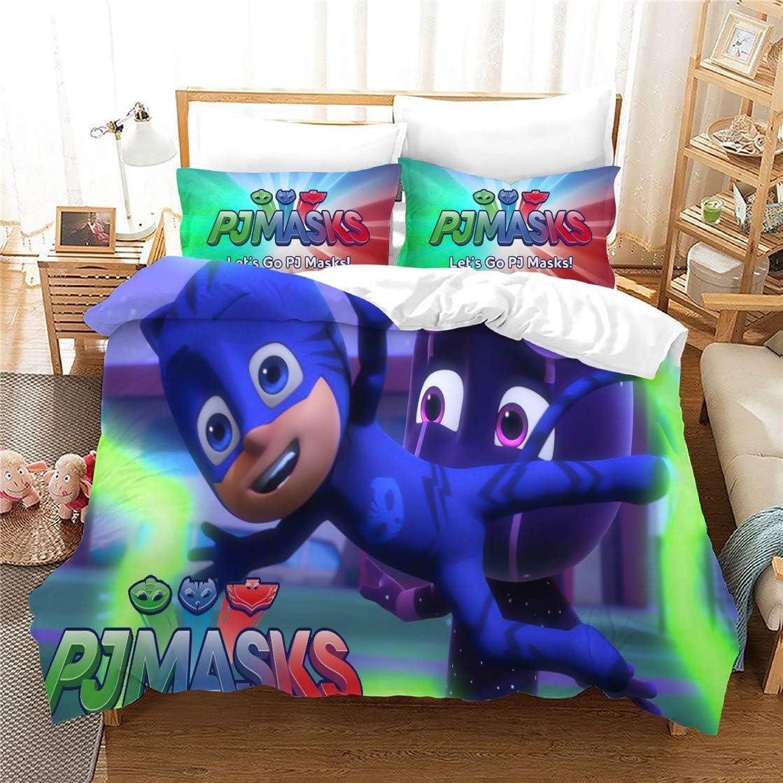 WMZ-SC PJ Masks - Juego de cama infantil (3 piezas, fibra de ...