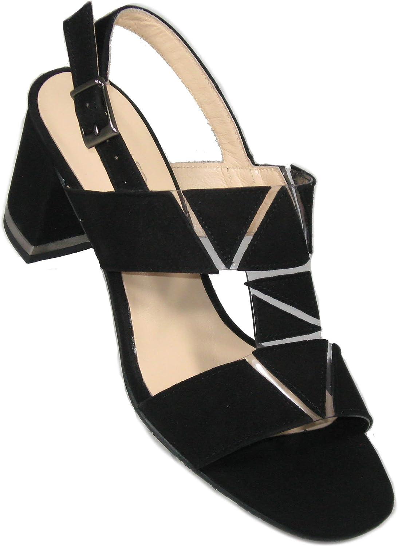 Brenda Brenda Brenda Zaro Woherrar'T2694 'svart mocka Sandal  kunder först