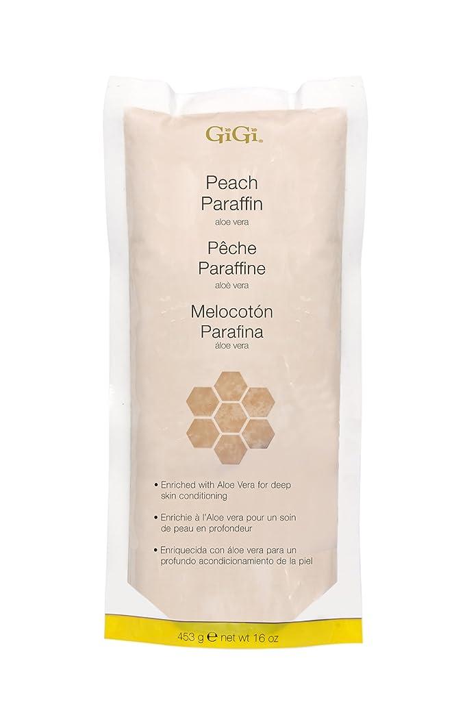 第三セメント画面GiGi Peach Paraffin Wax 453g by Gigi