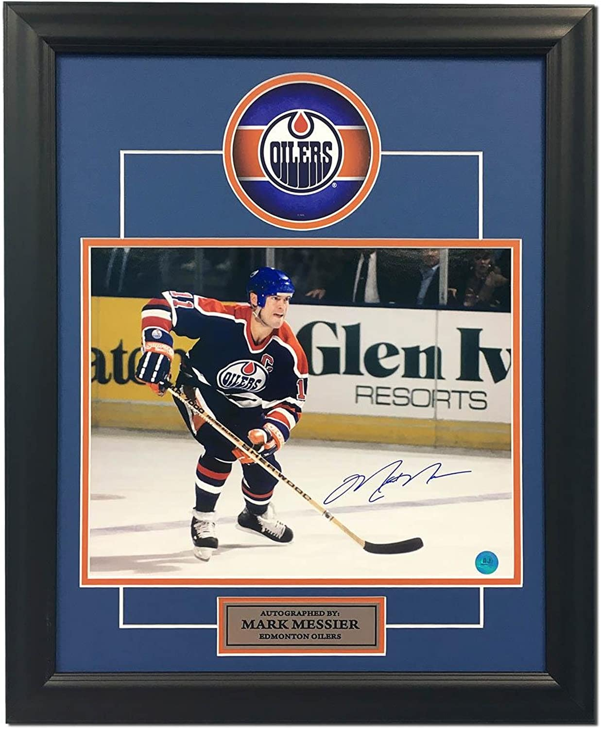 Signed Messier Photograph  Rush 19x23 Frame  Autographed NHL Photos