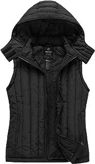 Women's Thicken Padding Vest Detachable Hooded Puffer Vest