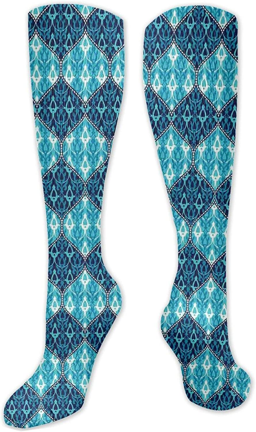 Compression Socks discount for WomenMen Knee High Los Angeles Mall Size(50C Sock One