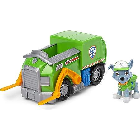 PAW PATROL Veicolo Camion per il Riciclo di Rocky, 1 personaggio di Rocky incluso, dai 3 anni