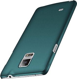 anccer Funda Samsung Galaxy Note 4, Ultra Slim Anti-Rasguño y Resistente Huellas Dactilares Totalmente Protectora Caso de Duro Cover Case para Samsung Note 4 (Grava Verde)