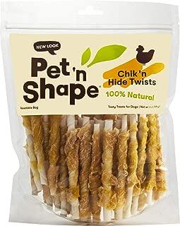 Pet 'n Shape Chicken Hide Twists Jerky Treats 5in, 3lb (3 x 1lb)