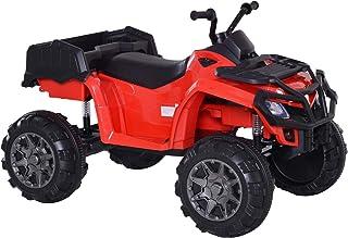 HOMCOM Vehículo Eléctrico de Batería para Niños 3-8 Años con Bontones Musicales con MP3 con Luces Doble Carga 30kg 118x80x80cm