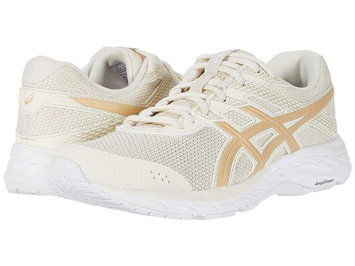 ASICS  GEL-Contend 6 (Birch/Champagne) Womens Running Shoes