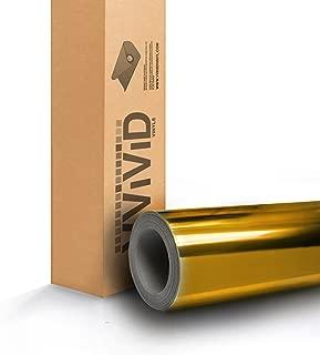 VViViD Gold Mirror Chrome Vinyl Car Wrap Self-Adhesive Film Decal (50ft x 5ft)