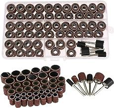 Ueetek Set Schleiftrommeln 66-teilig bestehend aus Schleifb/ändern 60/St/ück und Trommel-Aufs/ätzen 6 Stk.
