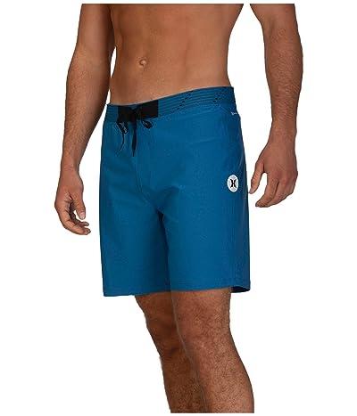 Hurley 18 Phantom Hyperweave Solid Boardshorts (Industrial Blue) Men