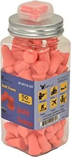 Ear Plugs 32db Highest Rating Bell-shaped- 50 Pairs Sound Blocking Earplugs - Block Snoring & Annoying Noise For Peace & Quiet - Perfect For Travel & Study, Sleep, Carrying Case Included