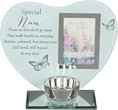 Widdle Gifts Ltd Glass Photo Frame Memorial Tea Light Candle Holder - Nan 9026