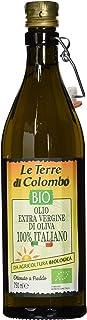 Le Terre di Colombo – 100 Prozent Italienisches Natives Bio-Olivenöl Extra - Gerippte Flasche mit Mechanischem Verschluss - 0,75 l