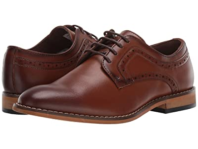 Stacy Adams Kids Dickens Plain Toe Oxford (Little Kid/Big Kid) (Cognac) Boys Shoes