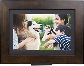 PhotoShare Friends and Family Smart Frame Digital Photo Frame, Send Pics from Phone to Frame, WiFi, 8 GB, Holds Over 5,000 Photos, HD, 1080P, iOS, Android (10.1