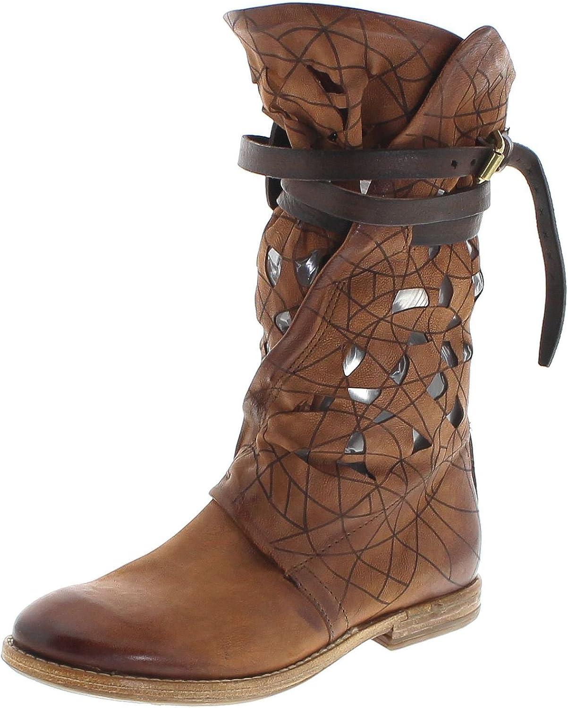 FB Fashion Stiefel A.S.98 630301 Castagna Lederstiefel für Damen Braun Damenstiefel