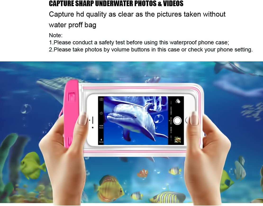 (4Pack) Universal Waterproof Case, CaseHQ Cellphone Dry Bag Pouch for iPhone 7 6s 6 Plus, SE 5s 5c 5, Galaxy s8 s7 s6 Edge, Note 5 4,LG G6 G5,HTC 10,Sony Nokia up to 6.2
