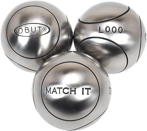 Obut Match it (1) Edelstahl 72   Boccia-Kugeln
