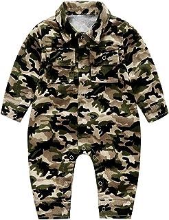 e768ea5fc8b17 Ding-dong Bébé Garçon Fille Camouflage Combinaison