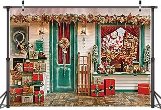 Dudaacvt D0460906 Fotohintergrund mit Weihnachtsbaum  und Schneelandschaftsmotiv, 2,7 x 1,8 m