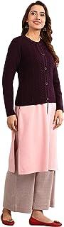 Aurelia Women's Wool Sweater (19NOA40044-700832_Purple_Small)
