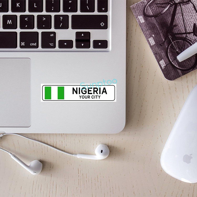 3 Pcs Stickers Pack Vinyl Sticker Nigeria Cute Stickers for Laptop, Water Bottle, Phone, Skateboard
