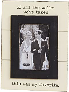 Mud Pie of All The Walks Wedding Picture Frame, 5 X 7