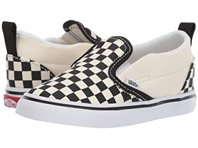 Vans Kids Slip-On V (Infant/Toddler) ((Checkerboard) Black/White) Kids Shoes