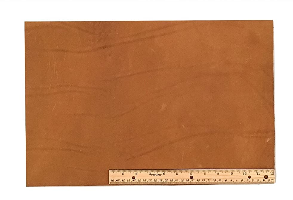 Scrap Lace Leather Light Brown Cowhide 12