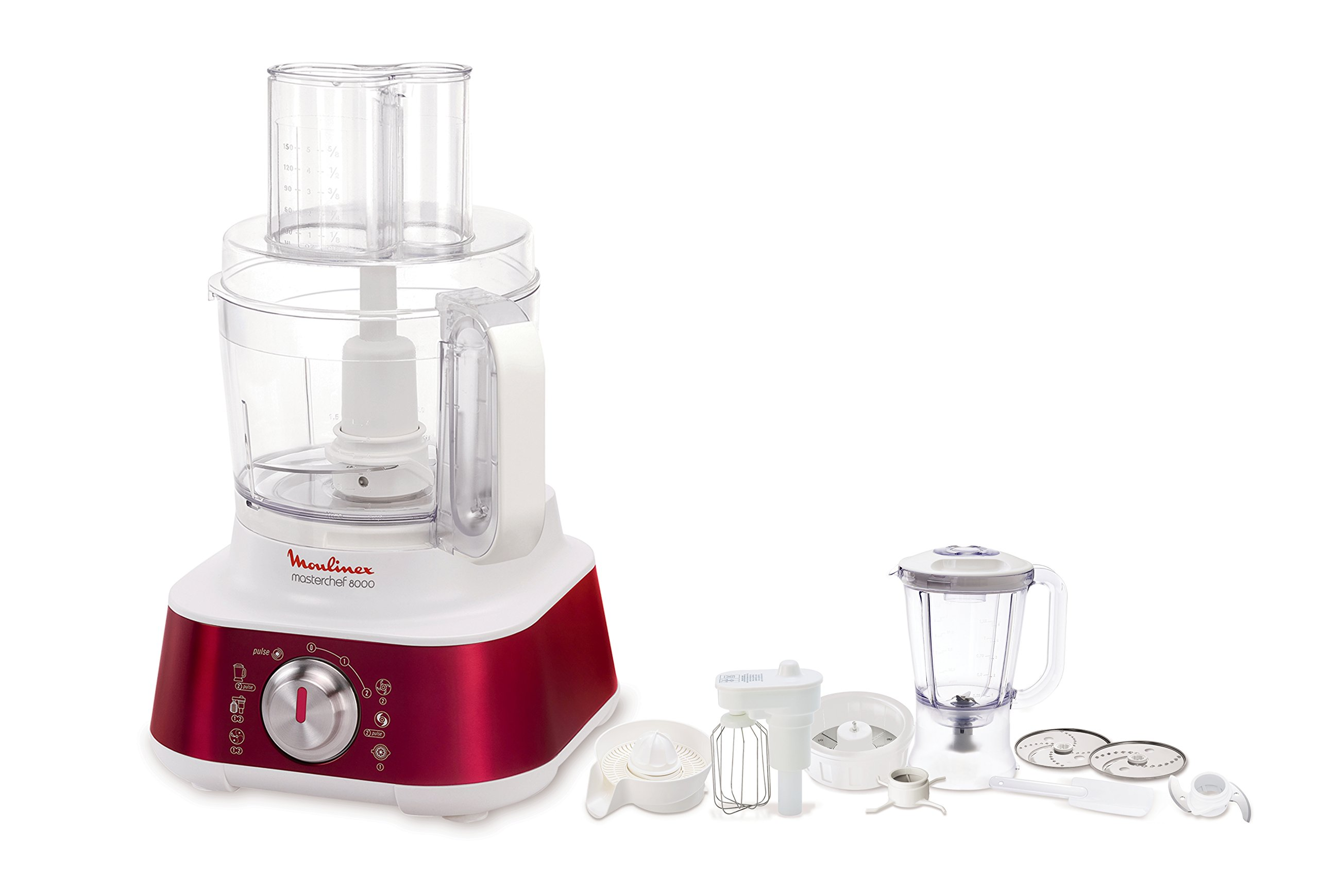 Moulinex Masterchef 8000 850W 3L Rojo - Robot de cocina (3 L, Rojo, Giratorio, 1,5 L, 850 W): Amazon.es: Hogar