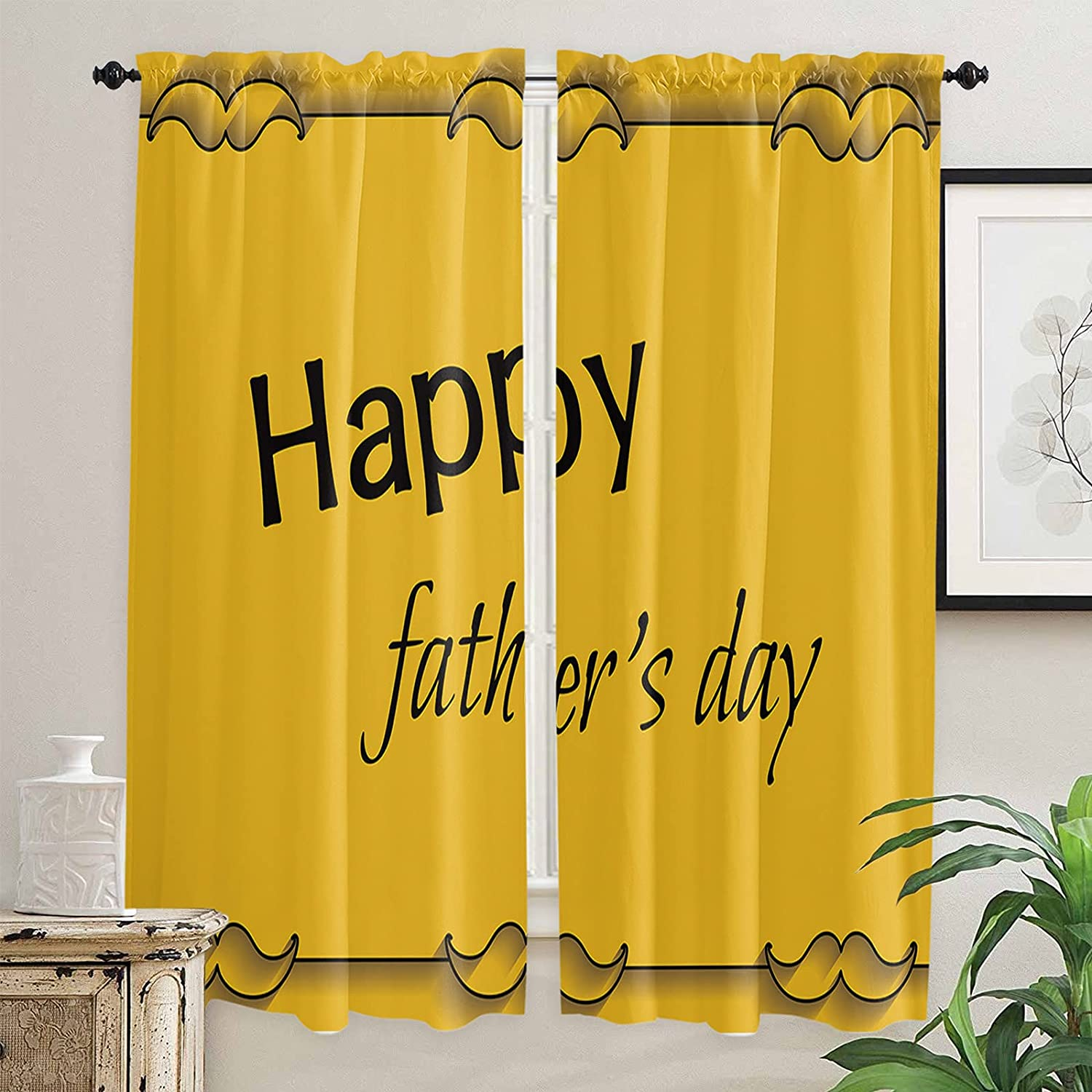 Popular brand in the world Yellow Eye-catching Backdrop Black Beard Limited price Celebrate to D Father's