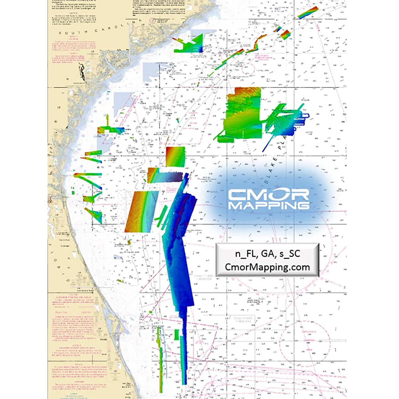 CMOR Mapping Northeast FL, GA, SC CMOR Card for Raymarine ecavkuotqhtm1