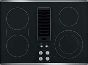 GE PP9830SJSS 30 Inch Smoothtop Electric Cooktop with 4 Burners, 3-Speed Downdraft Exhaust System, 9