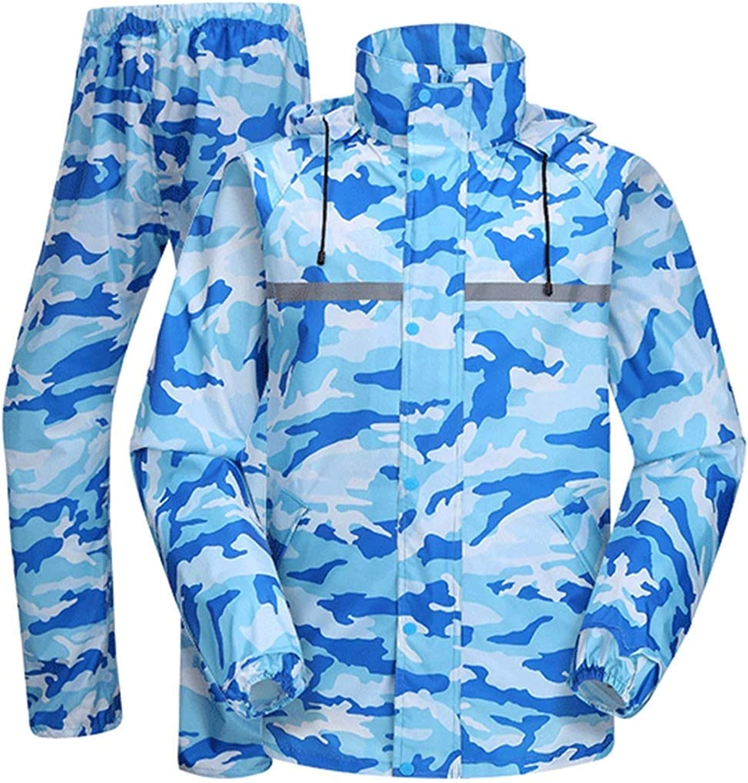 Hooded Raincoat Compressible Ultralight Waterproof Raincoat Set Adult Camping Travel Fishing Hiking (Size   XLarge)