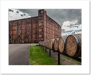 Bourbon Barrels and Rickhouse Wall Art, 8x10 Matted Photographic Print