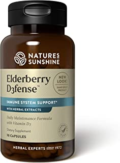 Nature's Sunshine Elderberry D3fense, 90 Capsules | Elderberry Supplement with Powerful Vitamin D, Sambucus Elderberry and...