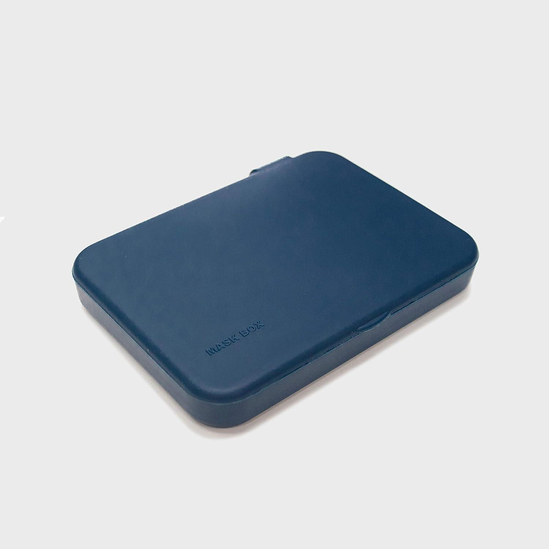 Kumundo Box - Caja/Funda de silicona de alta calidad para guardar mascarillas fácil de colgar. Porta mascarillas. Tarjetero. Fabricado es España. (Azul)