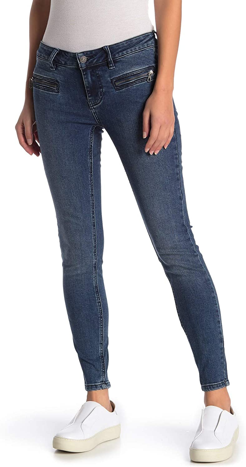 We The Free Jet Women's Low-Rise Cropped Medium Wash Skinny Jeans