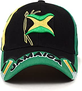 Stylish Depot Jamaica Flag Adjustable 3D Embroidered Unisex Baseball Cap Hat e7b410651a93