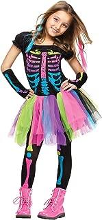 Fun World Funky Punky Bones Costume, Large 12 - 14, Multicolor