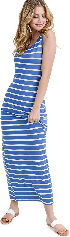 ICONOFLASH Women's Sleeveless Maxi Dress - Long Summer Tank Top Dress with Plus Size Options