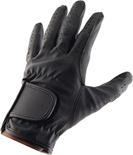 ALLNESS INC Leather Equestrian Horse Riding Gloves for Ladies Girls Women