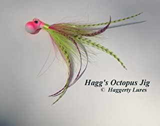 Haggerty Lures Octopus Bucktail Jig-Cobia-Pink Chartreuse-Saltwater Lure